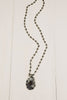 Smokey Quartz Sterling Silver Pendant and Rosary Bead necklace