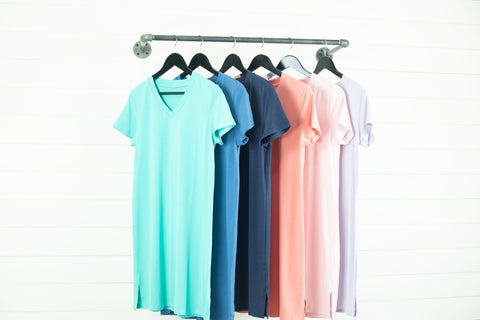 v neck nightgown colors