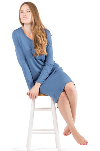 long henley nightgown