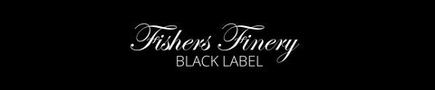 fishers finery black label logo