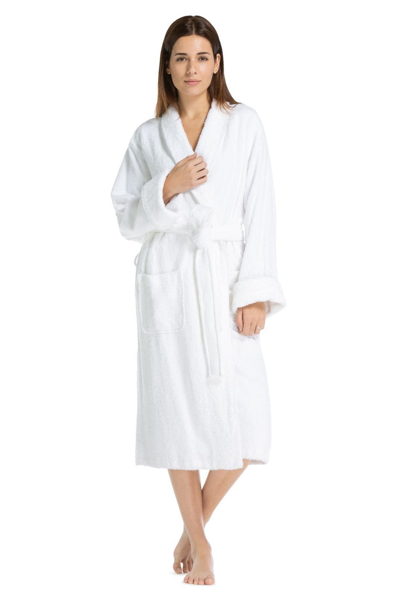 women 39 s robes full length terry cloth spa robe fishers finery. Black Bedroom Furniture Sets. Home Design Ideas