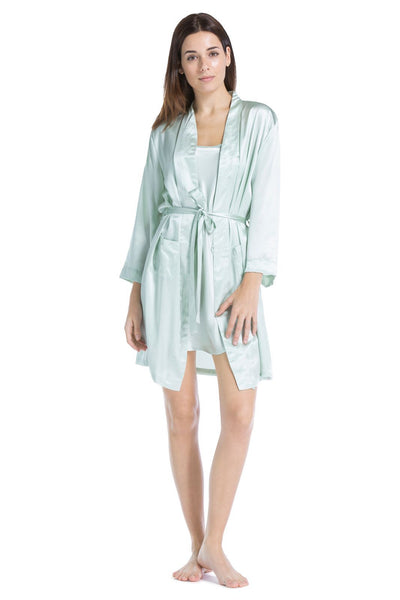 Women's 100% Pure Mulberry Silk Robe - Fishers Finery
