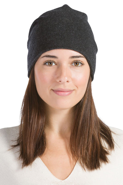 Women's 100% Cashmere Slouchy Beanie-Fishers Finery