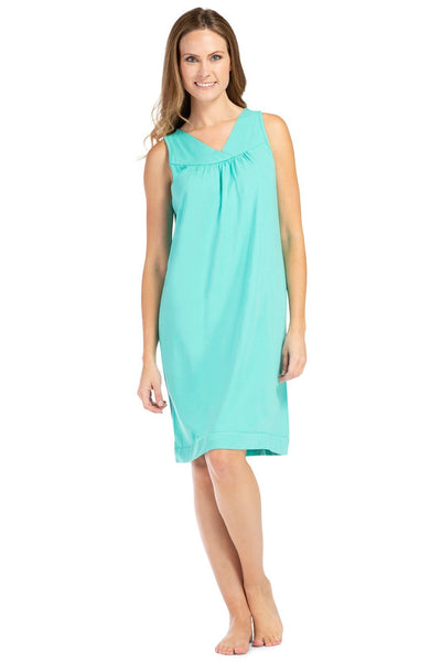 Women's Sleeveless Ecofabric™ Nightgown - Relaxed Fit - Fishers Finery
