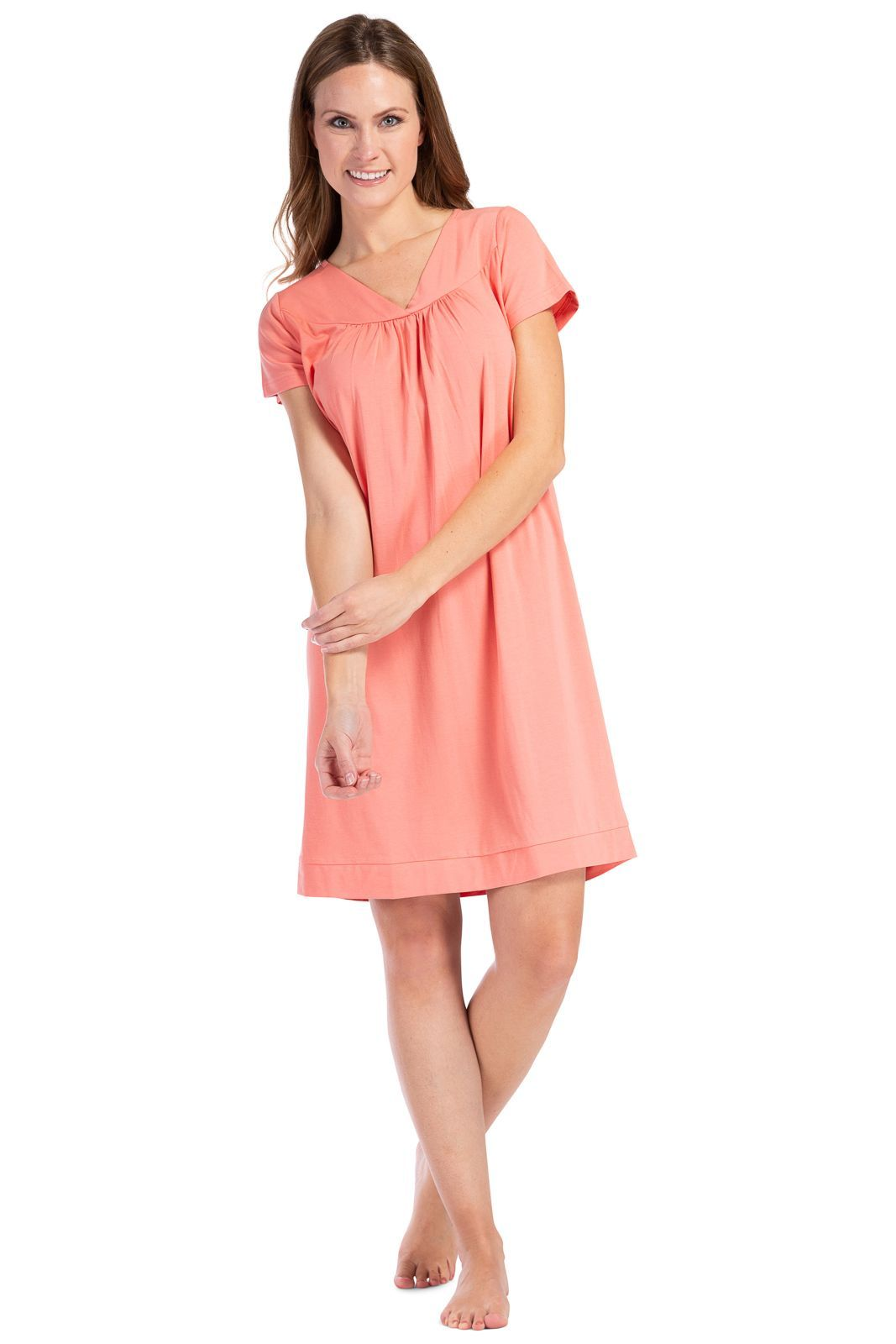 Women's Short Sleeve EcoFabric™ Nightgown - Relaxed Fit - Fishers Finery