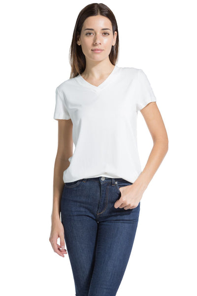 Fishers Finery Women's Relaxed EcoFabric™ V-Neck Tee