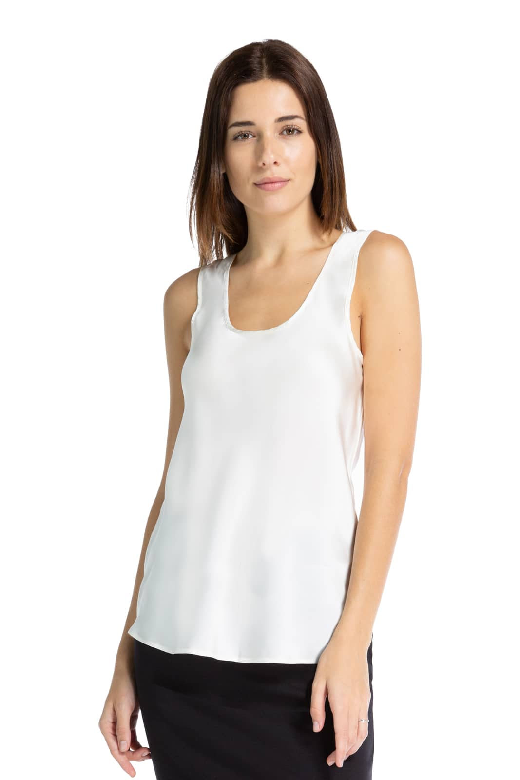 Women's 100% Pure Mulberry Silk Tank Top Camisole - Fishers Finery