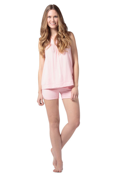 Fishers Finery Women's EcoFabric™ Pajama Set with Gift Box - Sleeveless Top and Fitted Short