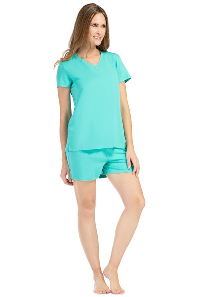 Women's EcoFabric™ Pajama Set with Gift Box- Relaxed Tee and Boxer Short - Fishers Finery