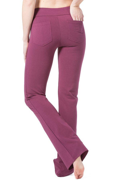 Women's EcoFabric™ Boot Leg Yoga Pant with Back Pockets