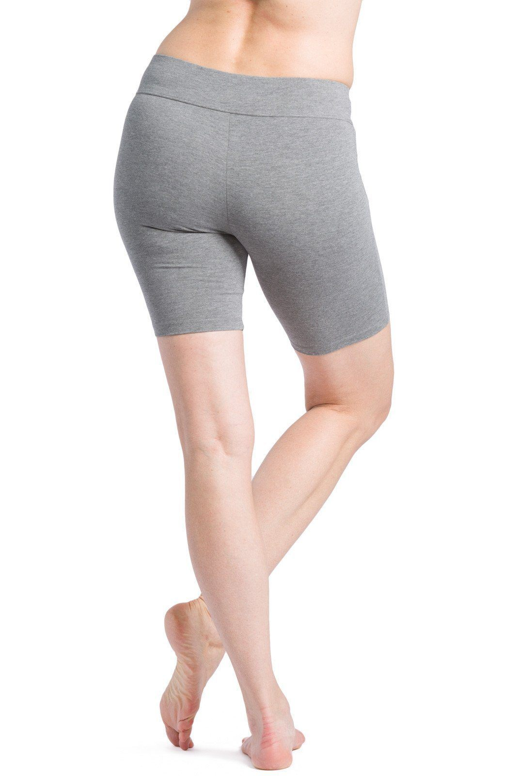 Womens Ecofabric Workout Yoga Short; Mid Thigh