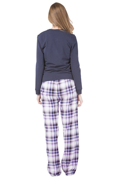 Women's EcoFabric™ Fleece/Flannel Plaid Pajama Set with Gift Box - Fishers Finery