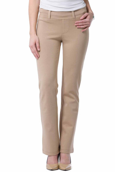 Fishers Finery Women's Ponte Knit Pull-On Boot Leg Work Pant