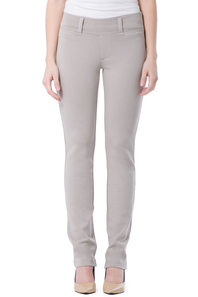 Fishers Finery Women's Ponte Knit Pull-On Straight Leg Work Pant