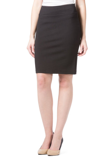 Women's Ponte Knit Pull-On Pencil Skirt - Fishers Finery