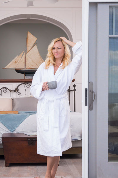Women's Premier Turkish-Style Full Length Terry Cloth Spa Robe - Fishers Finery