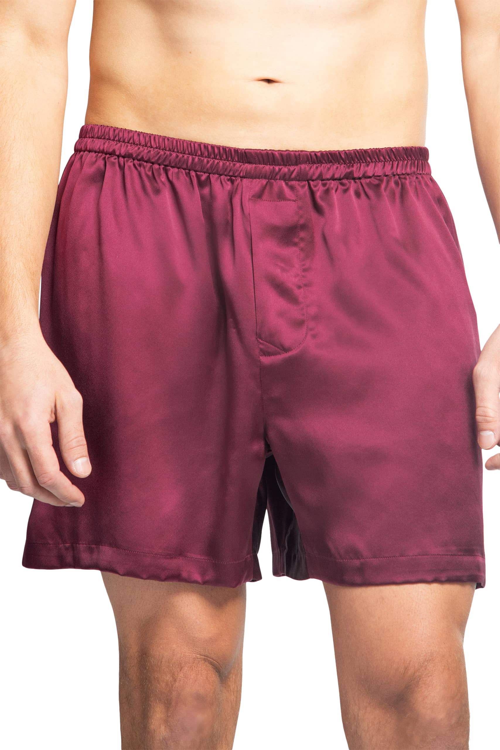 Men's 100% Pure Mulberry Silk Lounge Boxers - Fishers Finery