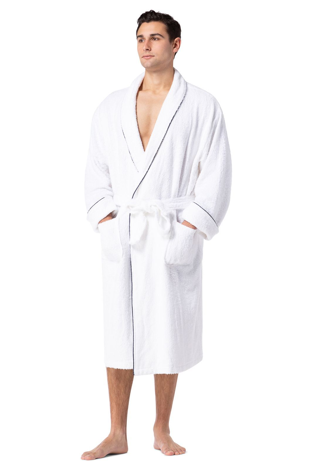 mens robes mens terry cloth robe spa robe fishers finery. Black Bedroom Furniture Sets. Home Design Ideas