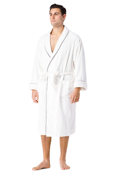 Men's Premier Turkish-Style Full Length Terry Cloth Spa Robe - Fishers Finery