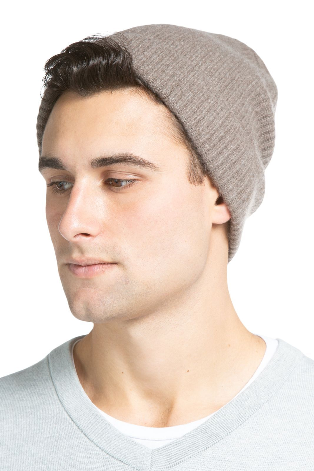 717d52b62bc Men s 100% Pure Cashmere Ribbed Hat - Fishers Finery
