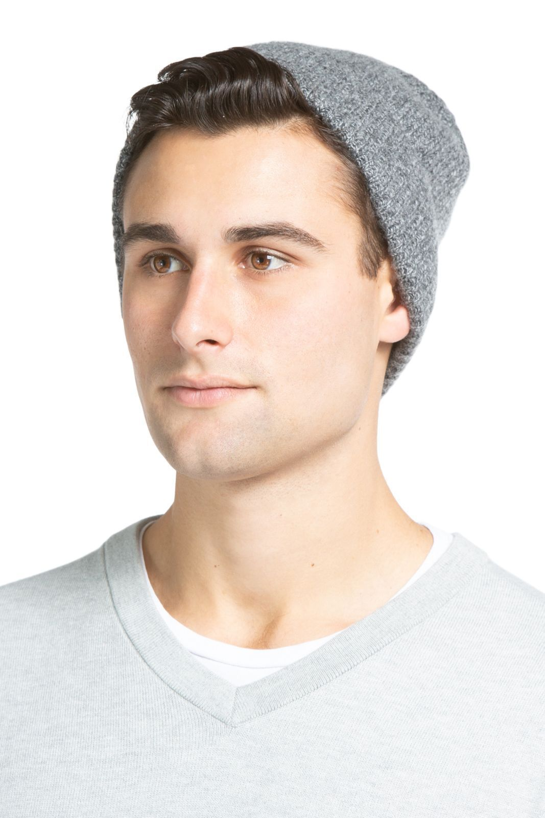 Men's 100% Pure Cashmere Ribbed Hat - Fishers Finery