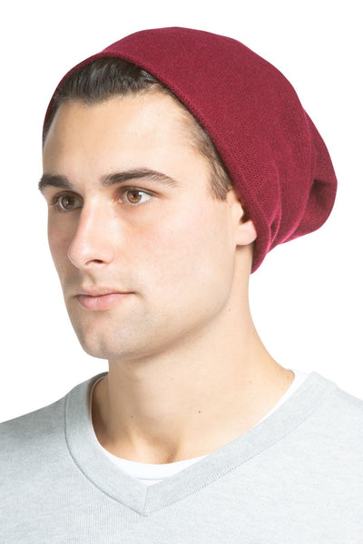 Men's 100% Pure Cashmere Ribbed Hat - Fishers Finery - Fishers Finery