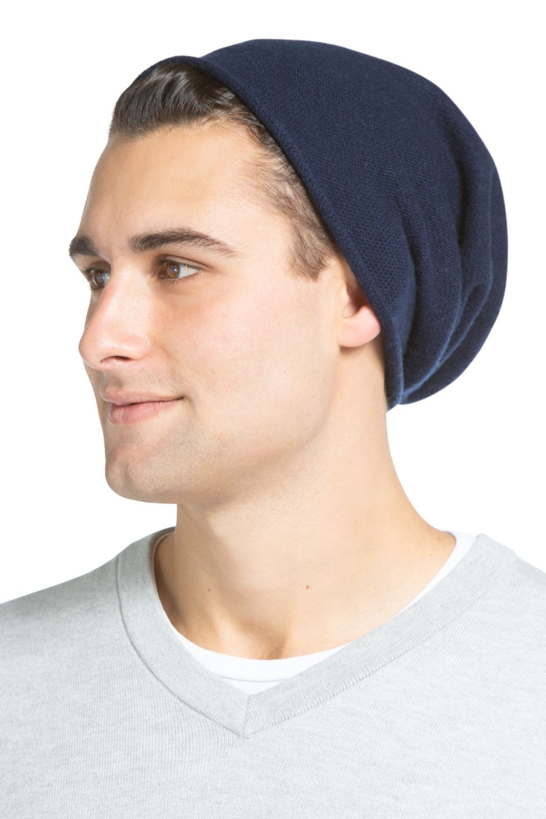60d0a6006b8 Men s 100% Pure Cashmere Ribbed Hat - Fishers Finery - Fishers Finery