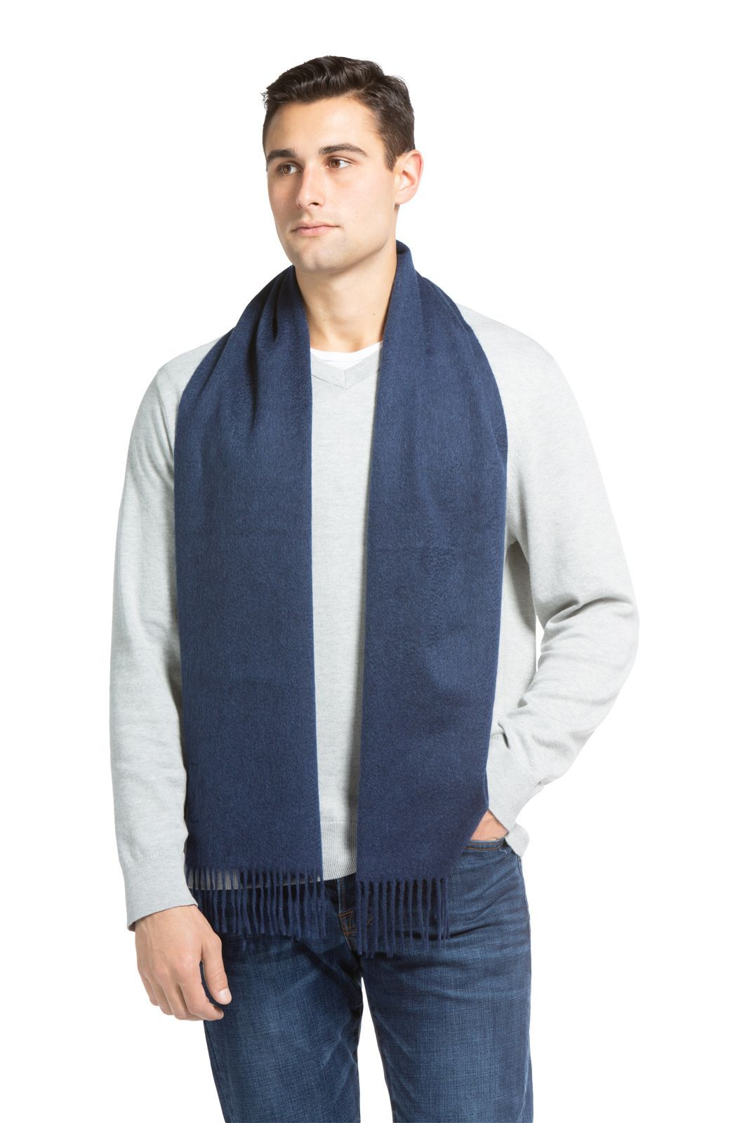 Men's Classic 100% Pure Cashmere Scarf- Fishers Finery