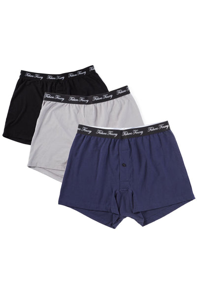 Men's Relaxed Fit Soft Knit Boxer - Multi Pack Options - Fishers Finery