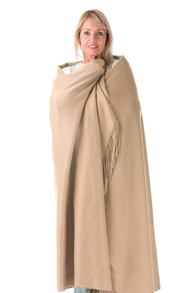 100% Pure Cashmere Fringe Throw Blanket with Gift Box