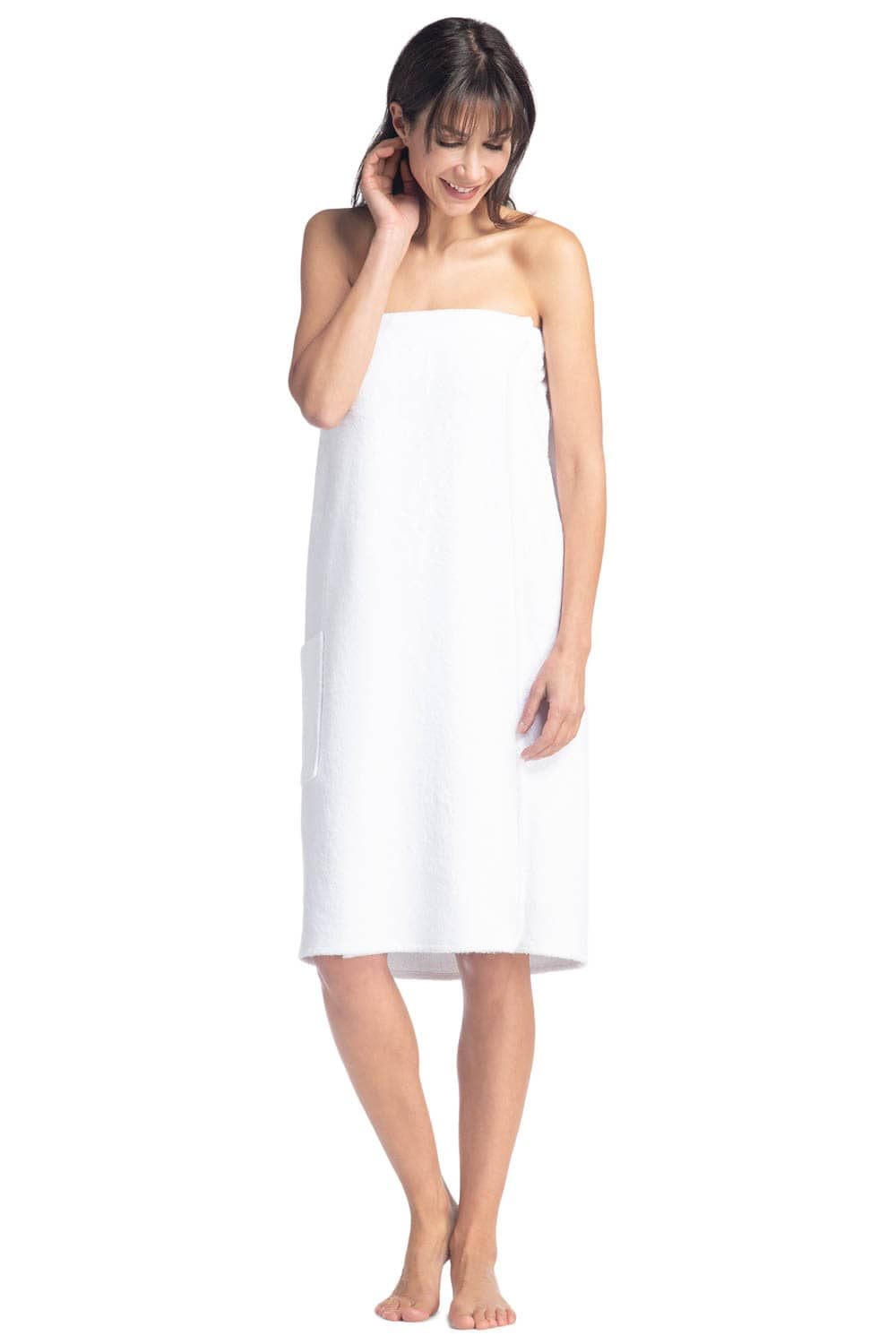 Women's Resort Style Terry Cloth Spa Wrap - Fishers Finery
