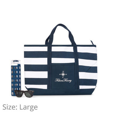 Canvas Travel Tote with Zipper Closure - Multiple Sizes and Colors - Fishers Finery