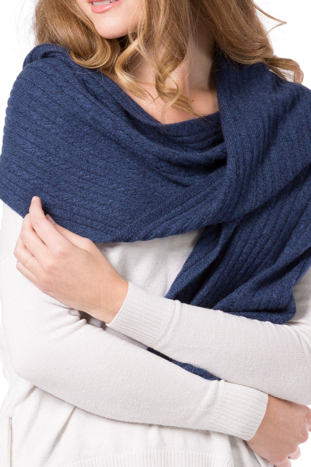 Fishers Finery - Women's 100% Cashmere Cable Knit Scarf With Gift Box