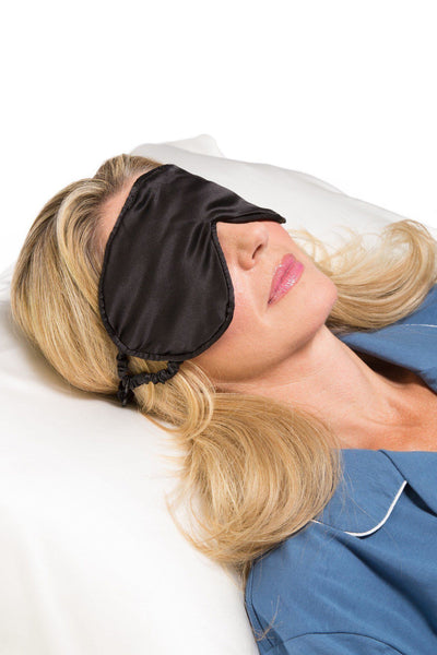 100% Mulberry Silk Therapeutic Sleep Mask with Adjustable Strap - 19 Momme - Fishers Finery