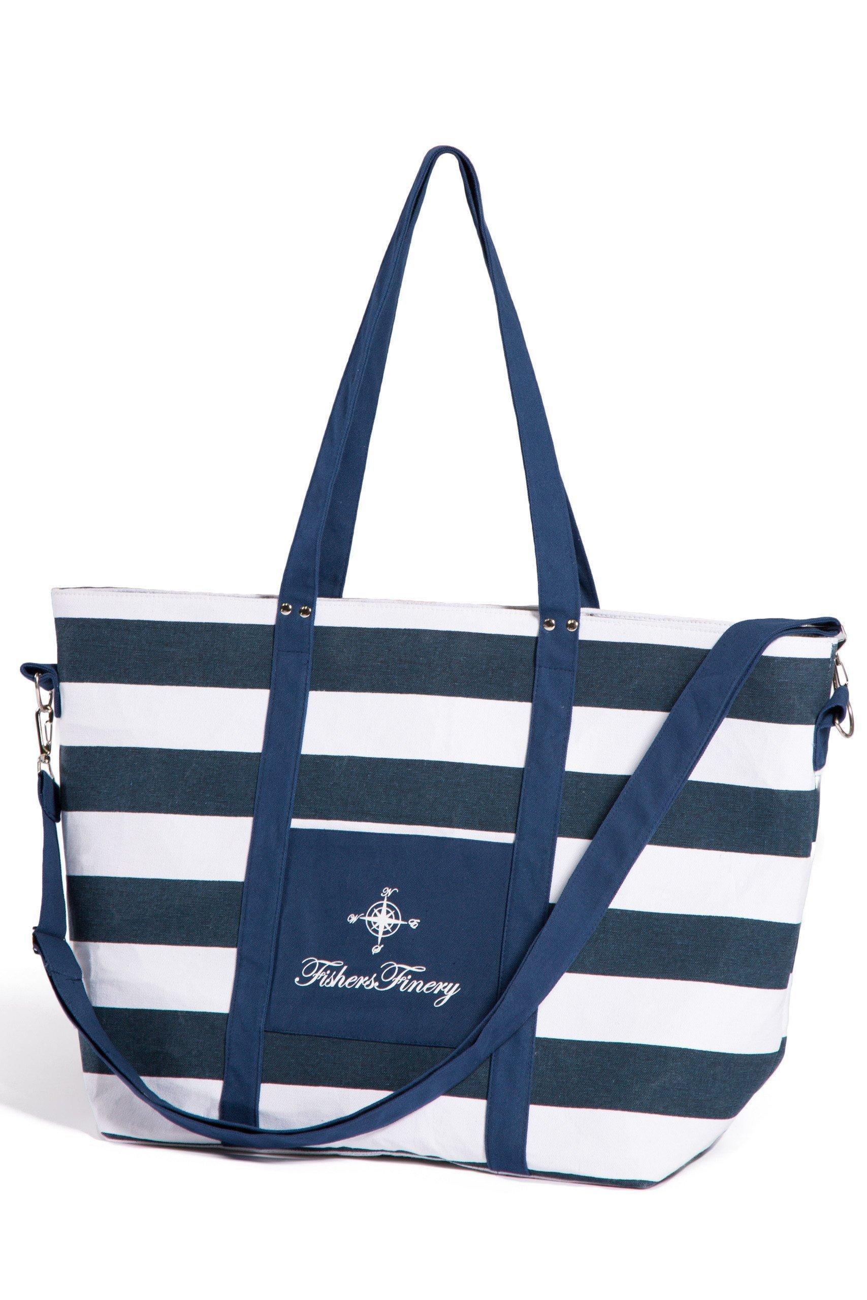 Heavy Canvas Insulated Beach Bag - Fishers Finery
