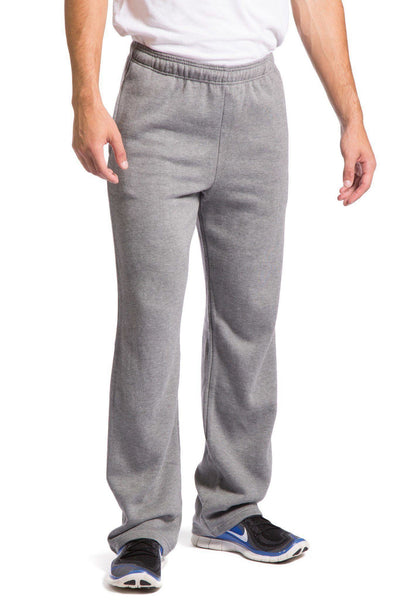 Mens>Sleep And Lounge>Boxer - Men's Athletic Pants, Open Bottom Ecofabric Sweatpants With Side Pockets