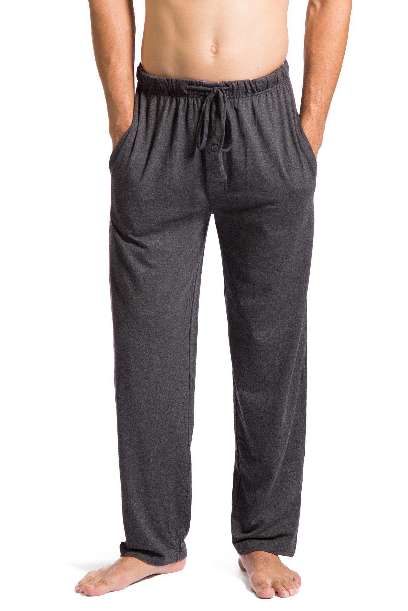 Mens Pyjamas PJ Bottoms Jersey soft Sleep Night Wear  Lounge PANTS WITH POCKETS