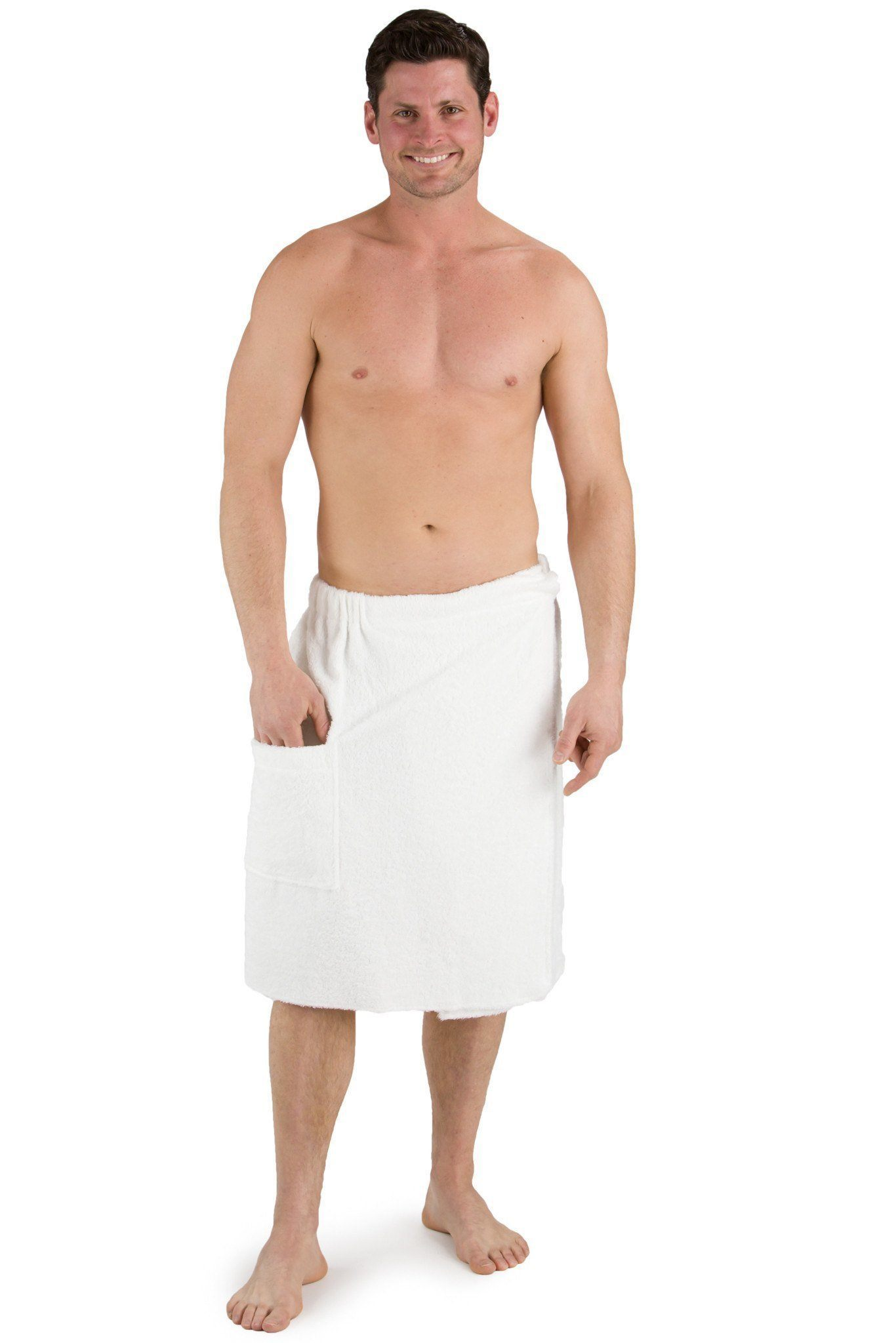 Men's Resort Style Terry Cloth Spa Wrap - Fishers Finery