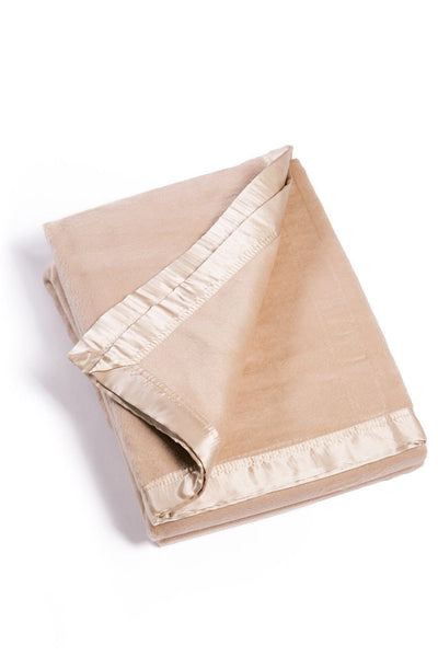 Micro Velvet Bamboo Viscose Blanket with 100% Silk Trim - Optional Sizes - Fishers Finery