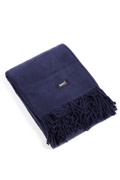 Micro Velvet Fleece Throw with Fringe and Gift Box - Fishers Finery
