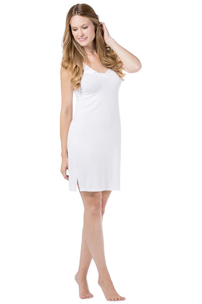 Women's Essential V-Neck Modal Nightgown Chemise - Fishers Finery