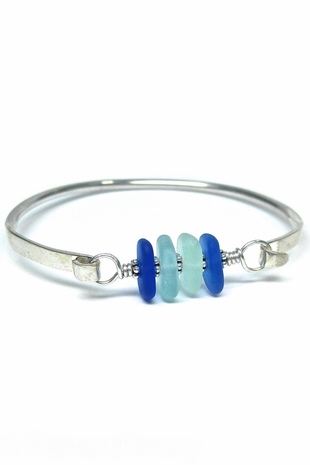 Womens>Accessories>Jewelry - 4 Stone Bangle Bracelet