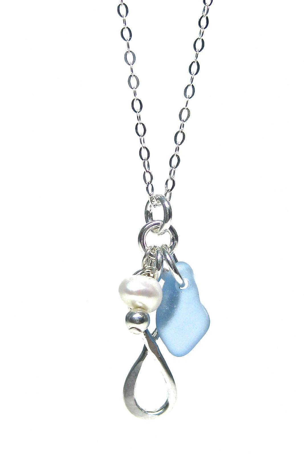 Womens>Accessories>Jewelry - Eternal Love - Inspirational Necklace - Sea Glass