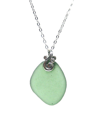 Eternal Love - Inspirational Necklace - Sea Glass