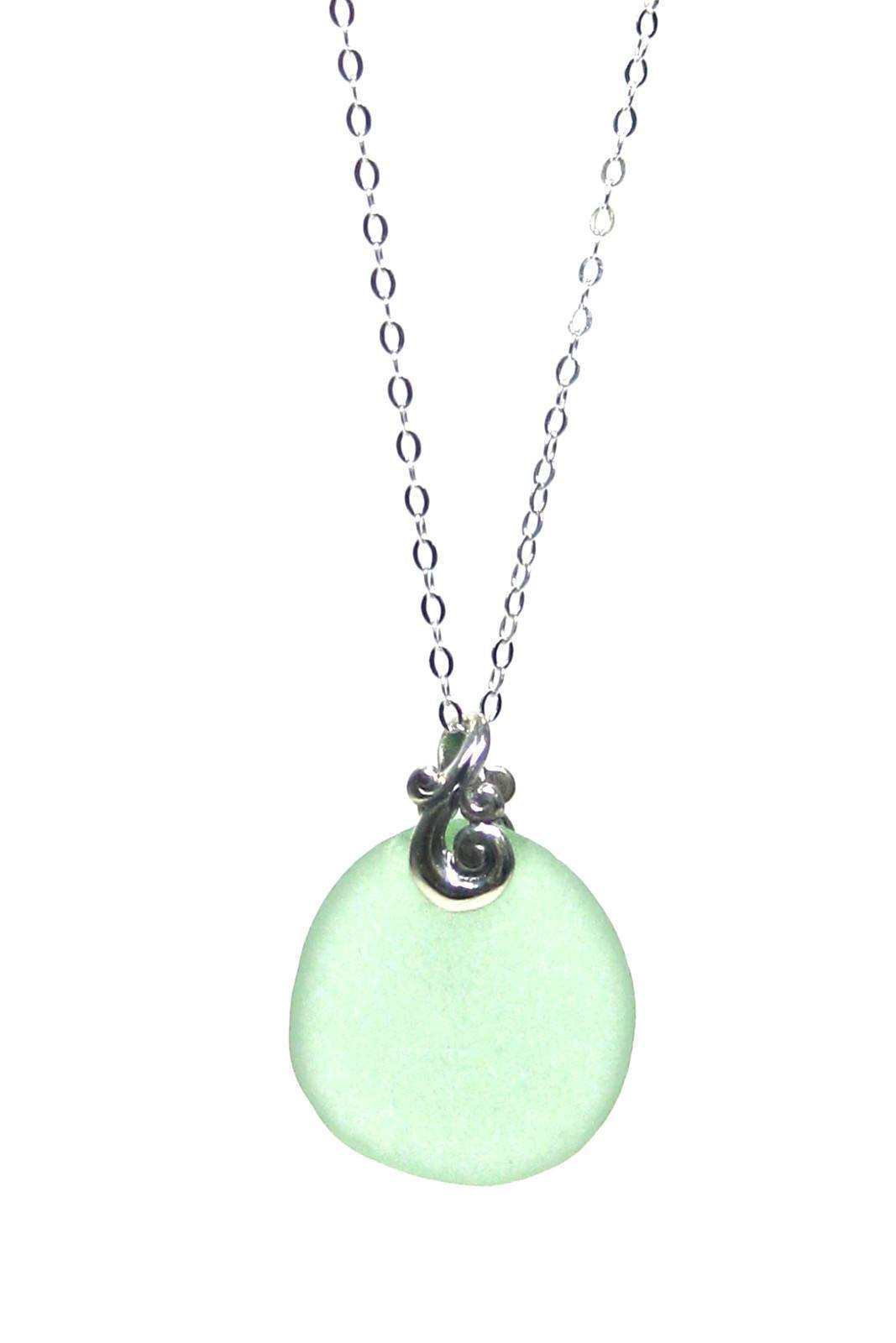 Womens>Accessories>Jewelry - Ocean Waves Sea Glass Necklace