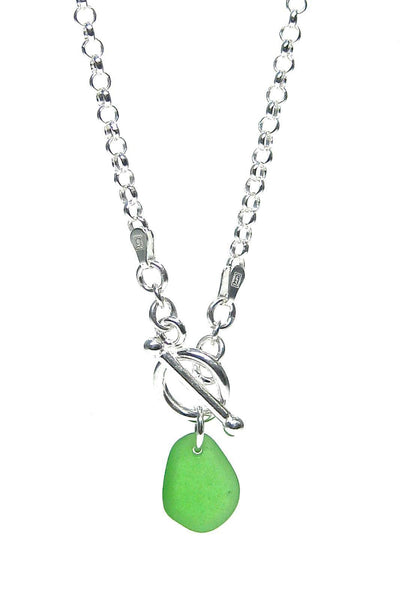 Toggle Sea Glass Necklace with Gift Box - Fishers Finery