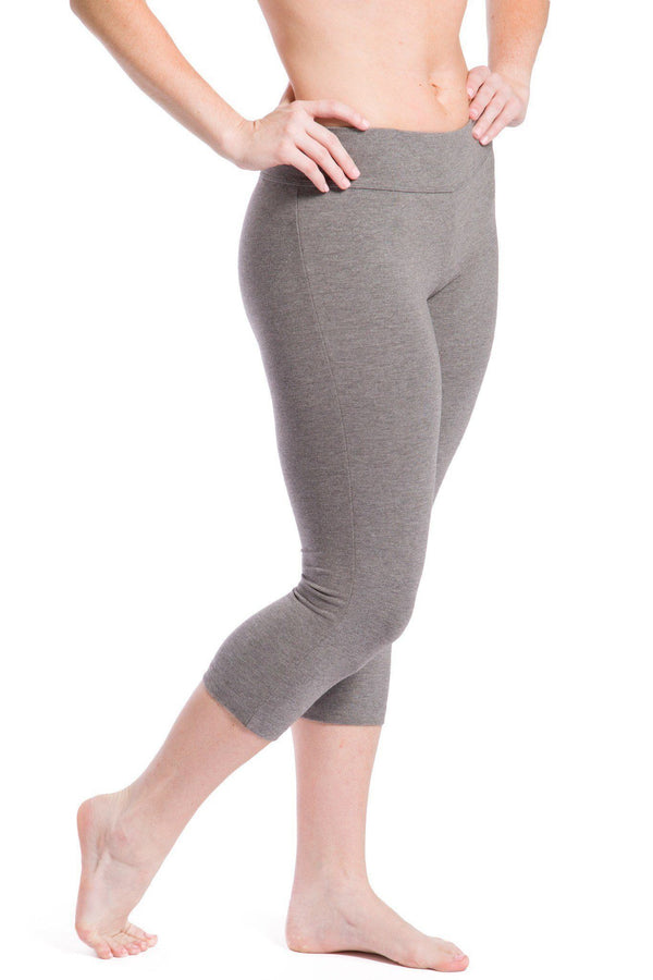 Yoga Pants Womens Ecofabric Capri Workout Leggings