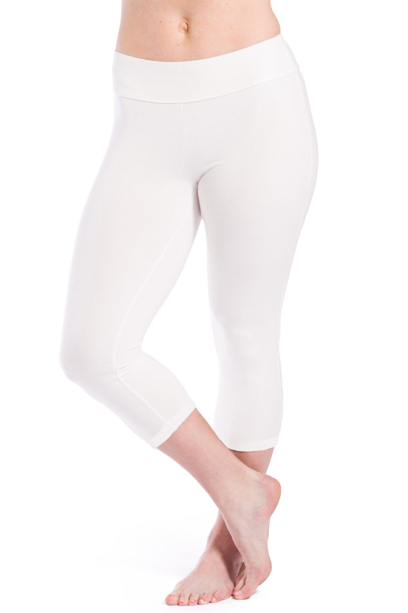 Womens>Activewear>Yoga Pants - Womens Ecofabric Capri Workout Legging, Capri Yoga Leggings