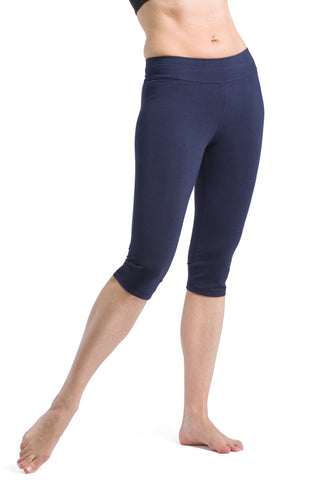 Womens>Casual>Leggings - Fishers Finery Women's Ecofabric Athletic Workout 3/4 Capri Pants
