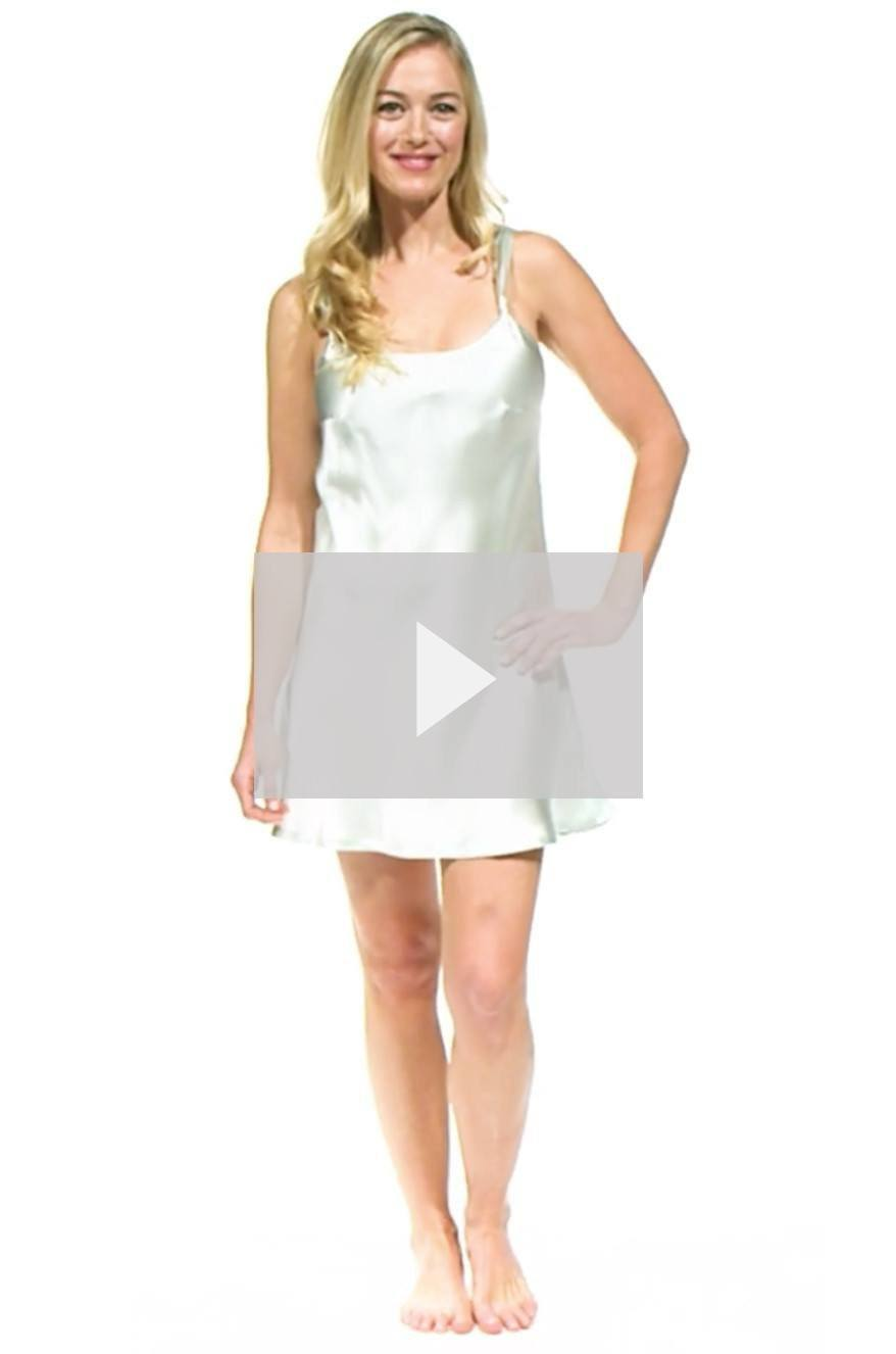 Women S Nightgowns Silk Chemise Mid Thigh Nightgown